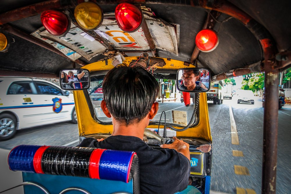 Bangkok met kinderen - Tuktuk