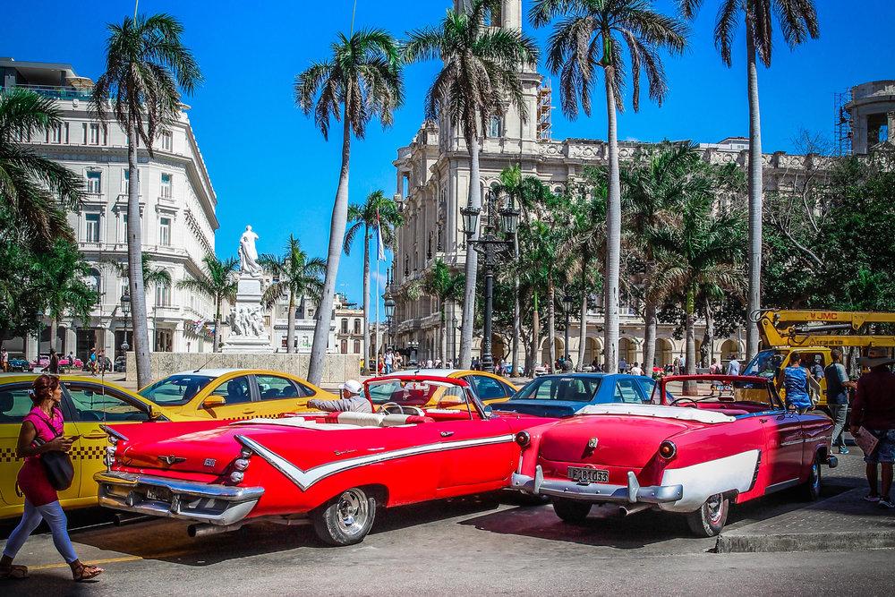 Oude auto's in havana