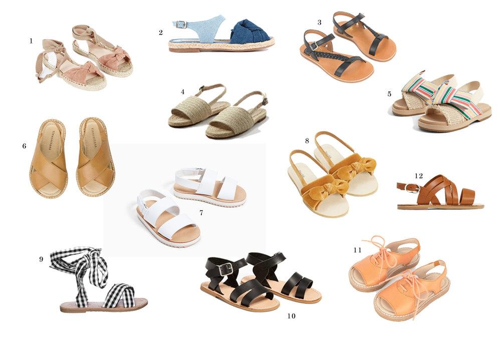 Mooie zomer sandalen voor kinderen. Sandalen voor kinderen kunnen ook goedkoop zijn.