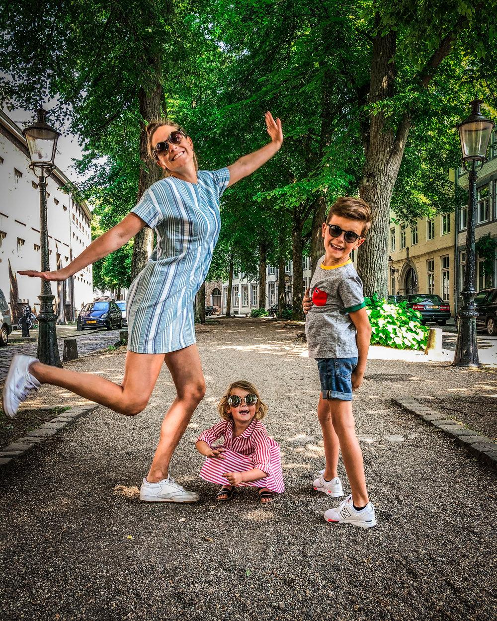 Maastricht binnenstad met kinderen