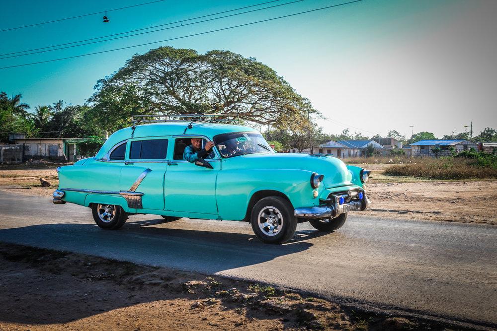 Onderweg naar Trinidad cuba - oldtimer