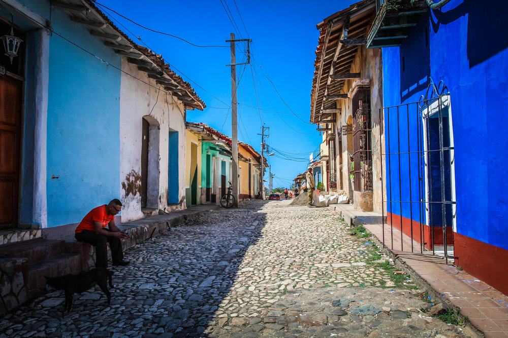 Blauwe huizen trinidad cuba