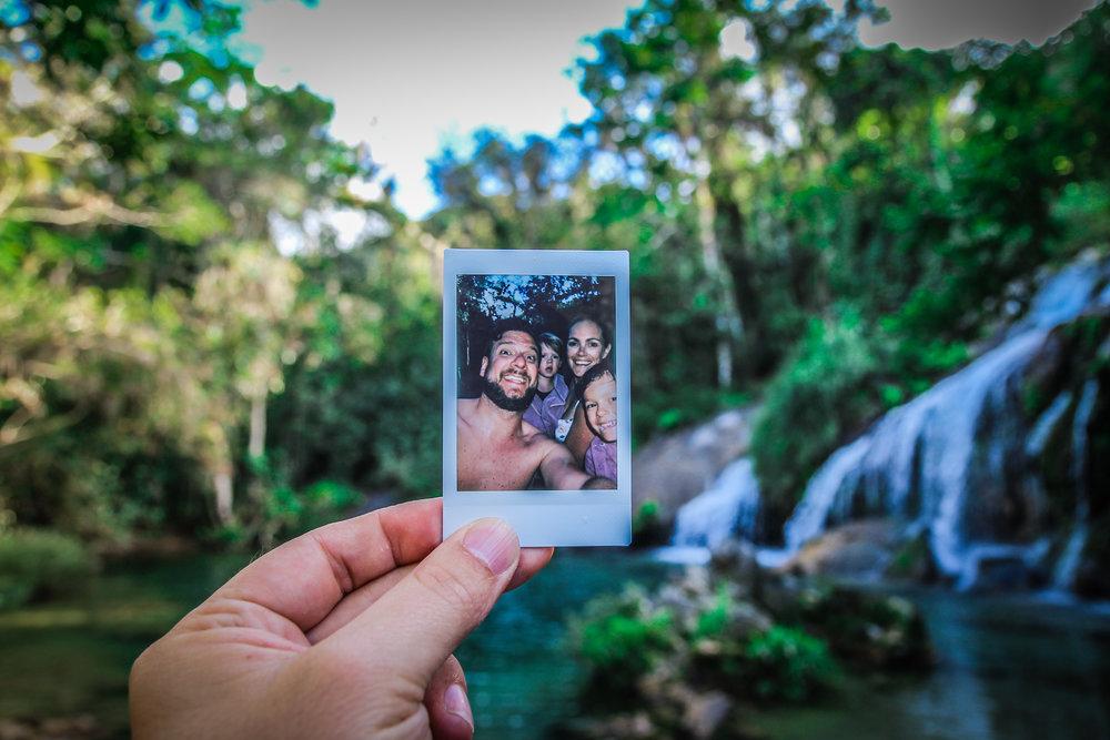 El Nicho - Watervallen cuba - polaroid