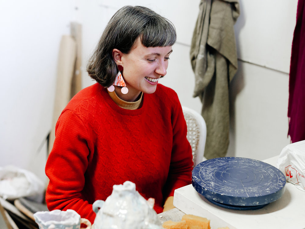 We visited ceramicist Tessy king in her north melbourne studio!