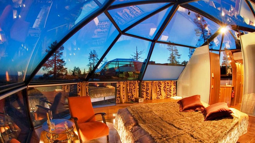 ... Known As The Northern Lights, From Under The Glass Ceiling Of An Igloo  In This Exclusive Finnish Resort. Do We Have Your Attention Yet?
