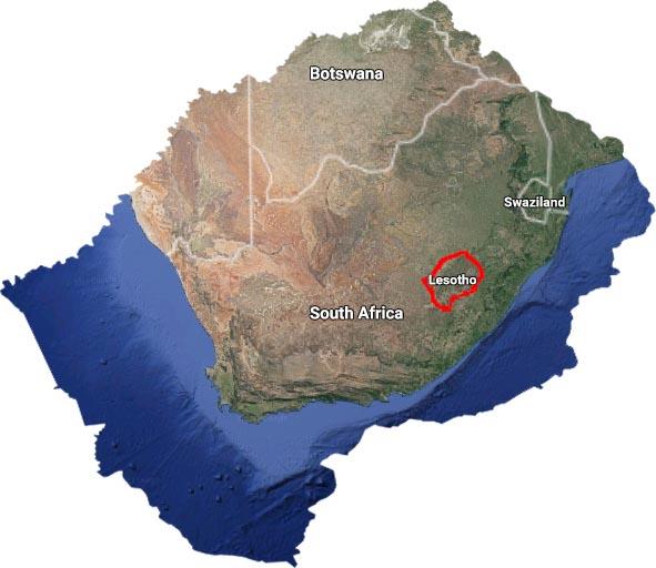 Lesotho Shape Map Red.jpg