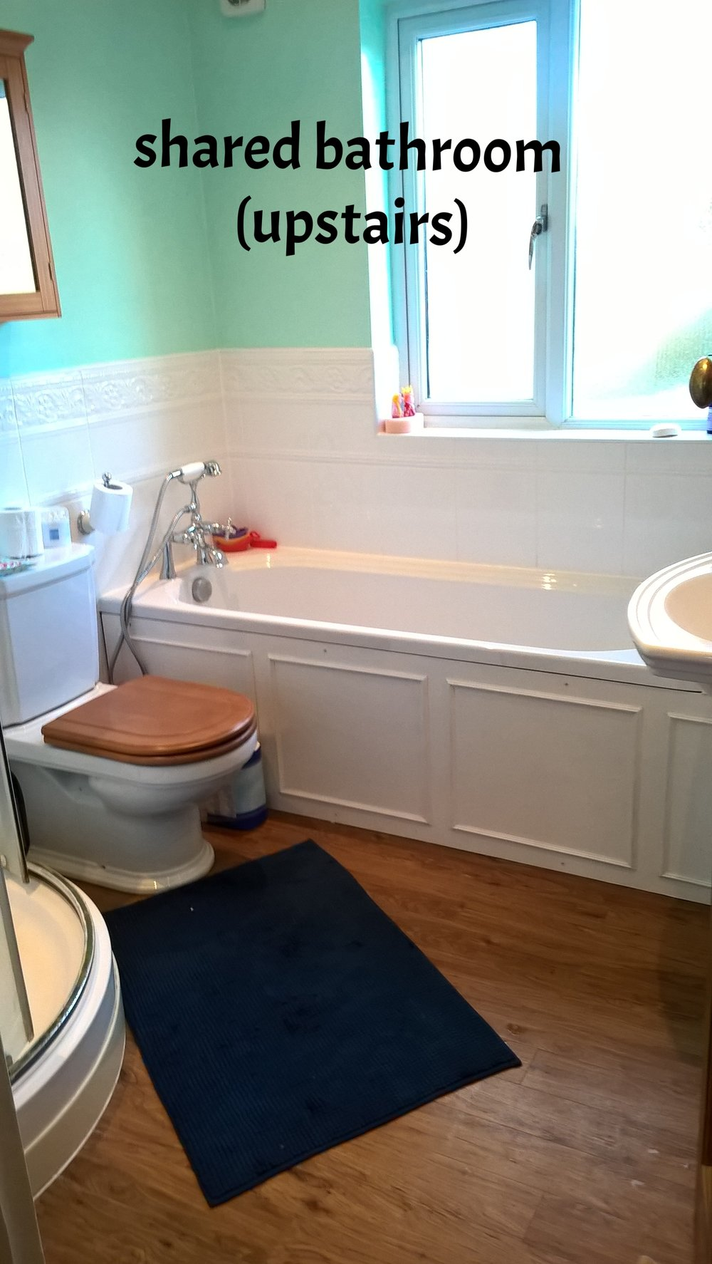 main bathroom upstairs (shared)
