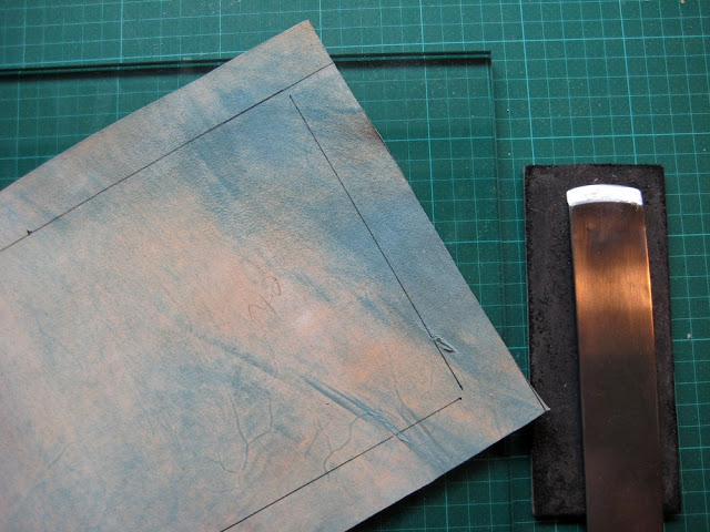 full leather binding - work in progress by Kaija Rantakari / paperiaarre.com