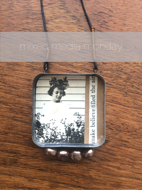 mixed media jewelry made with vintage photos and tins - paperiaarre.com