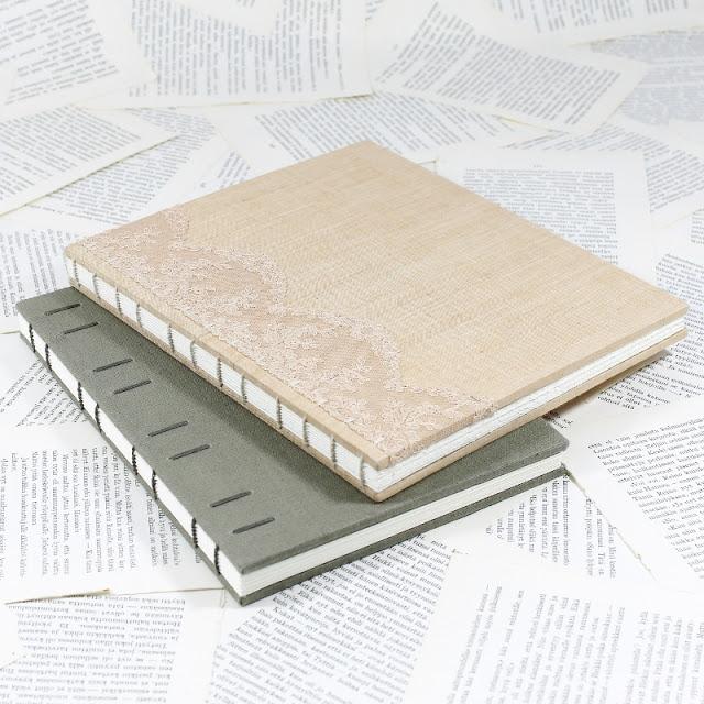 Large Coptic bound books by Kaija Rantakari / paperiaarre.com