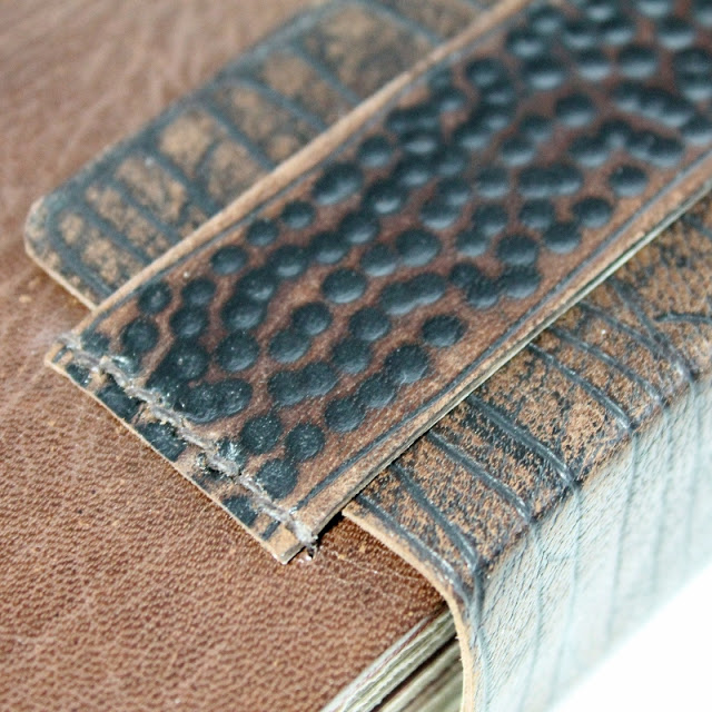 Coptic binding with double leather covers and Ethiopian headbands - Kaija Rantakari / paperiaarre.com