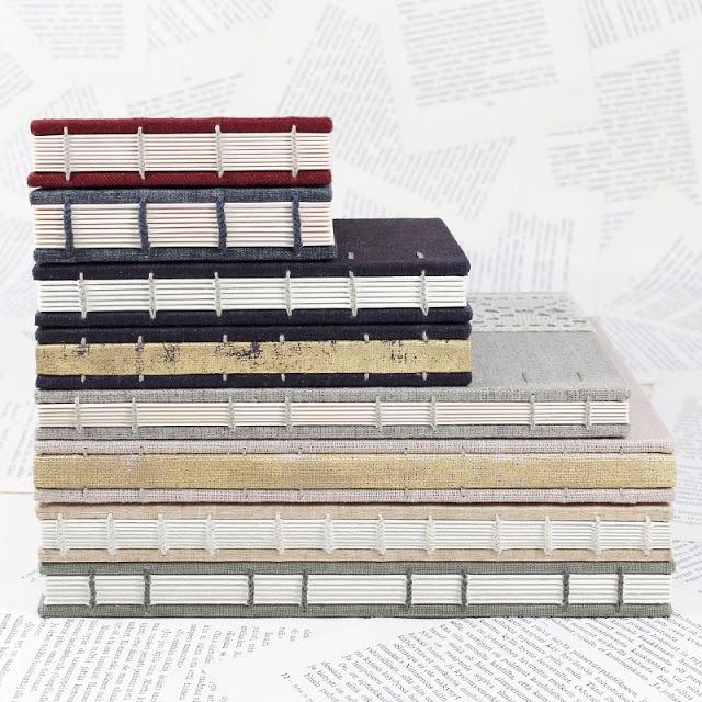 Coptic bound books by Kaija Rantakari / paperiaarre.com
