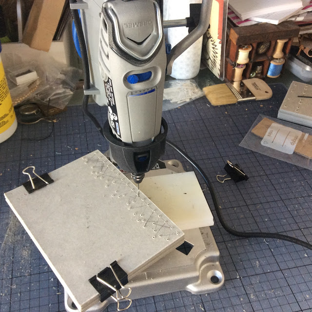 Dremel Workstation and covers for Coptic bound books - paperiaarre.com
