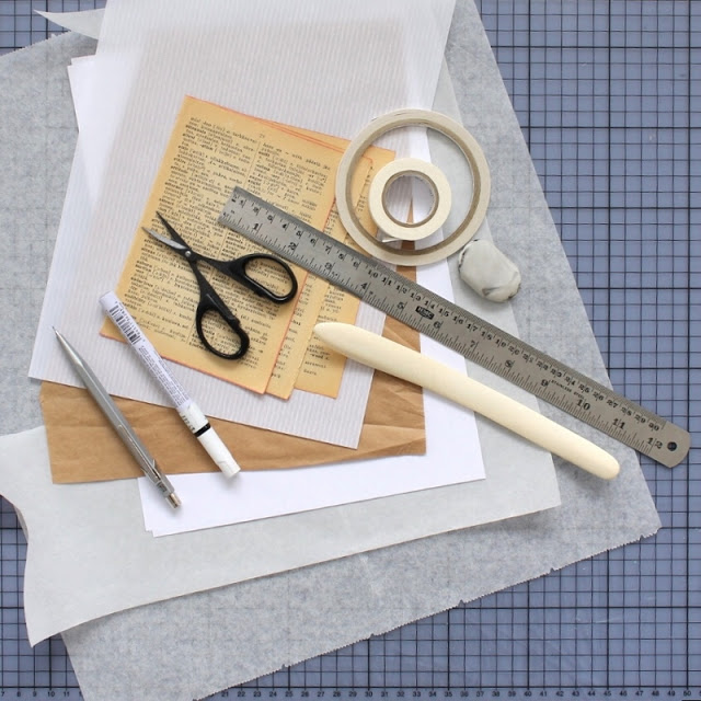 diy: mixed paper envelopes - materials and tools needed / paperiaarre.com