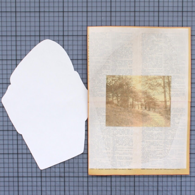 diy: mixed paper envelopes - papers fused together / paperiaarre.com