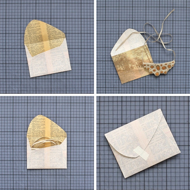 diy: mixed paper envelopes - final steps! / paperiaarre.com