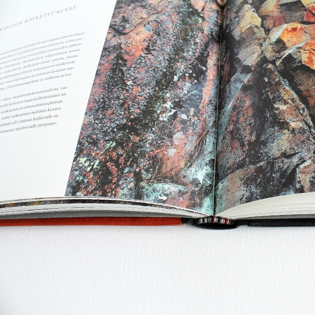 Pyhät kuvat kalliossa (a book about Finnish rock paintings) fine binding by Kaija Rantakari in 2008 / paperiaarre.com