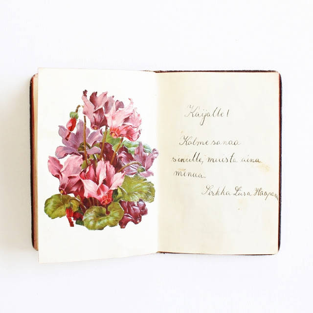 my grandmother's scrap and quote book from the 1920's - paperiaarre.com