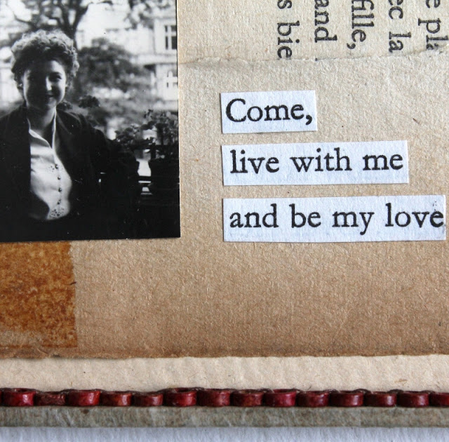 Be my love - mixed media collage by Kaija Rantakari / paperiaarre.com