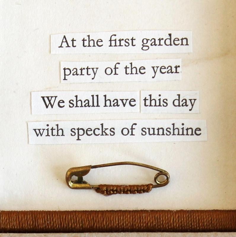Garden party - mixed media collage by Kaija Rantakari / paperiaarre.com