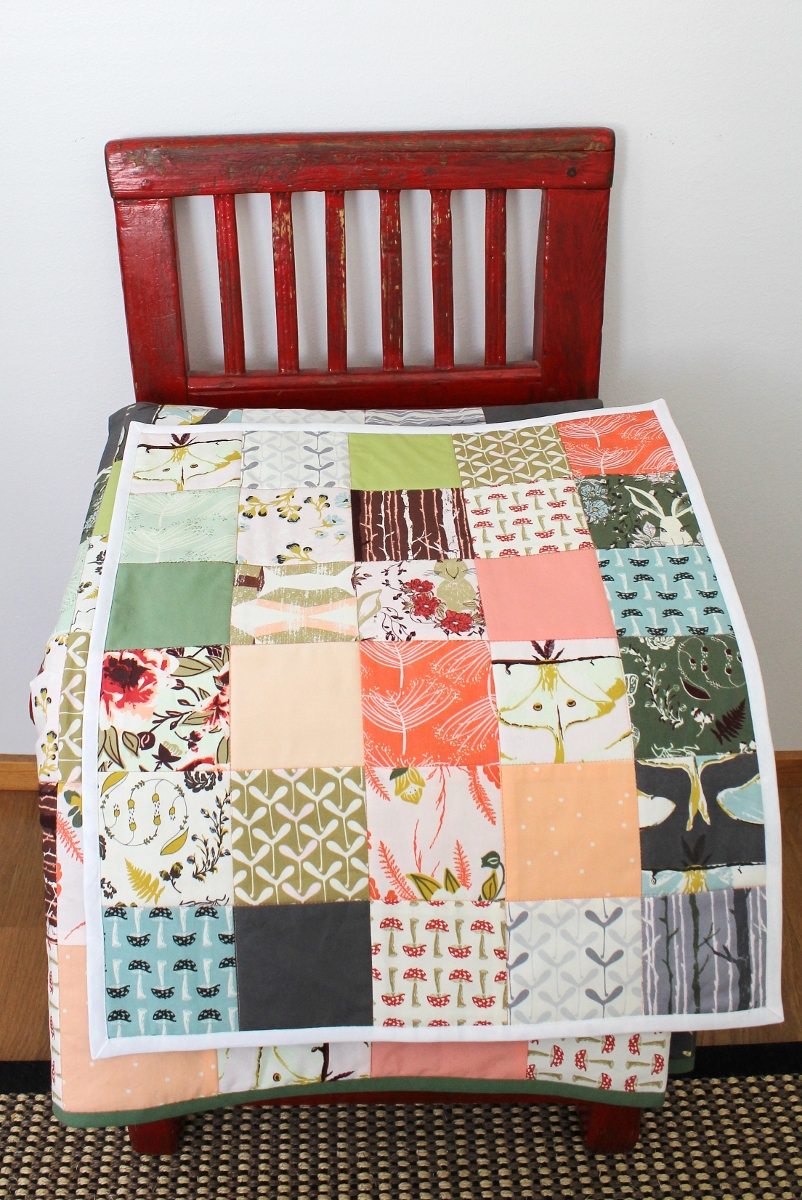 quilt and doll quilt made using Forest Floor fabrics - by Kaija Rantakari / paperiaarre.com