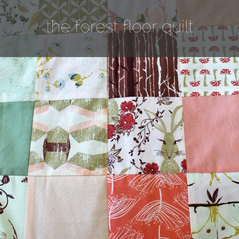 quilt made using Forest Floor fabrics - by Kaija Rantakari / paperiaarre.com