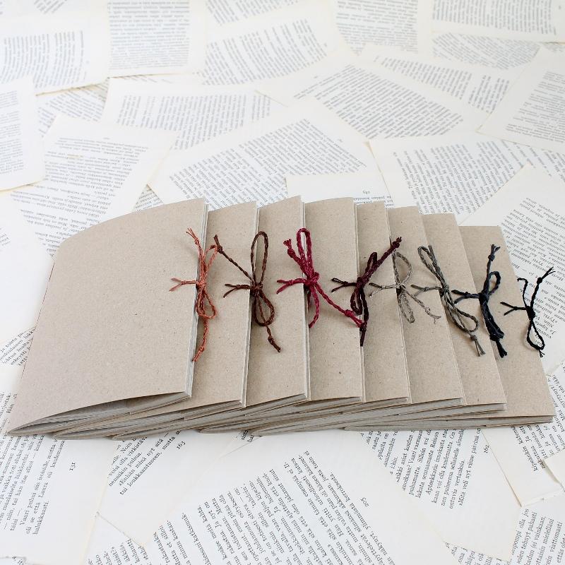 handmade eco jotters by Kaija Rantakari / paperiaarre.com