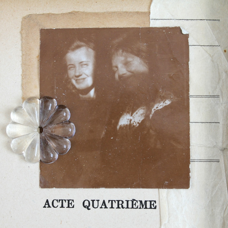 acte quatrième - mixed media collage by Kaija Rantakari / paperiaarre.com