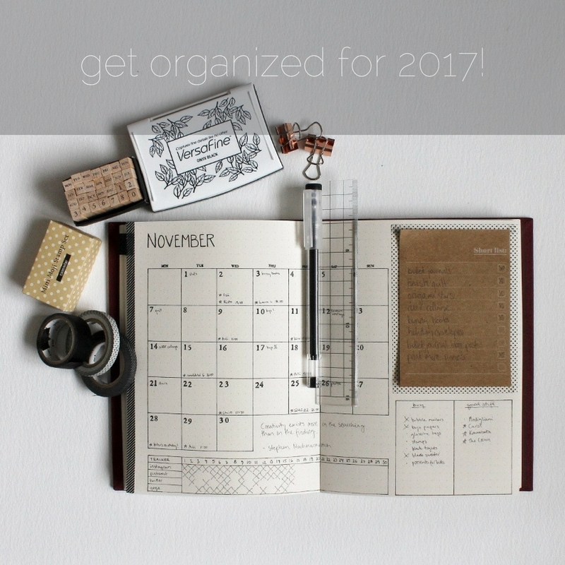 get organized for 2017 using a handmade Paperiaarre bullet journal - www.paperiaarre.com
