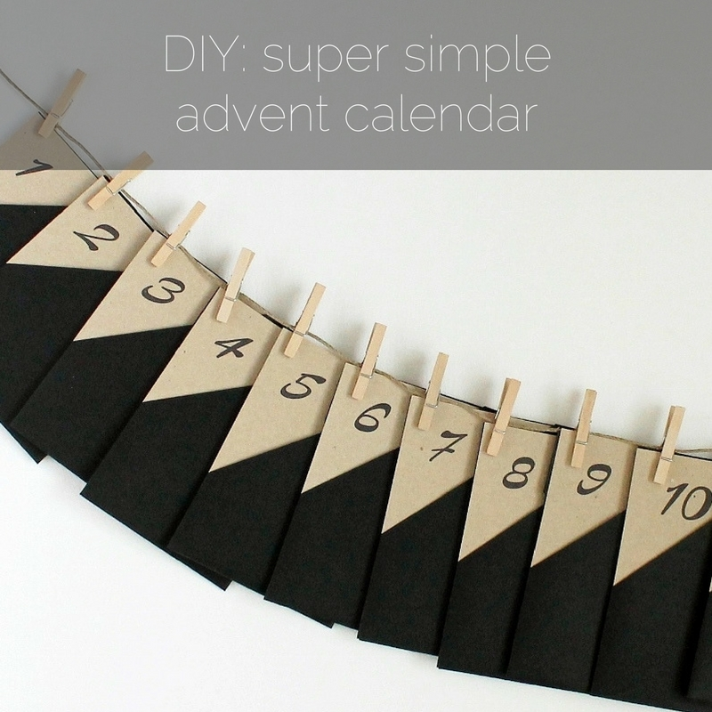 DIY: super simple advent calendar - www.paperiaarre.com