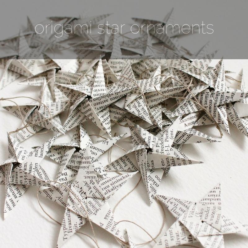 origami star ornaments by Kaija Rantakari / www.paperiaarre.com