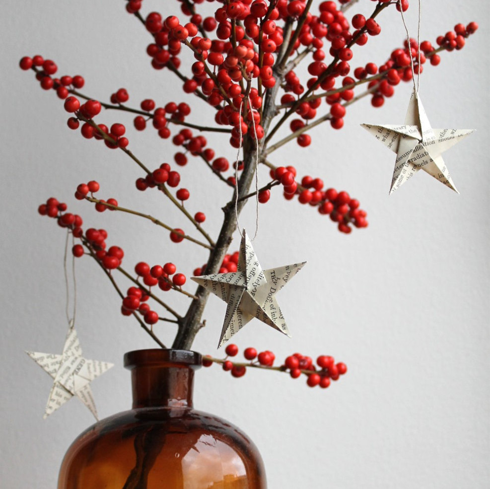 Fabric Origami Christmas Star Ornaments | Ashlee Marie - real fun ... | 985x987