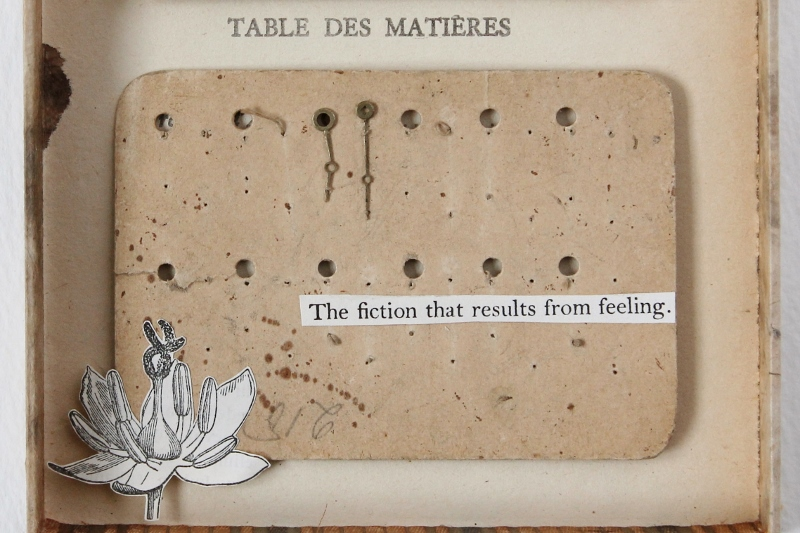 The fiction that results from feeling - mixed media collage by Kaija Rantakari, 2016 / www.paperiaarre.com