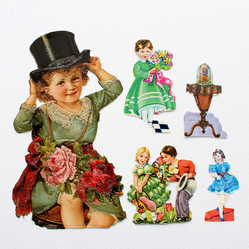 My childhood collection of Victorian scrap - www.paperiaarre.com