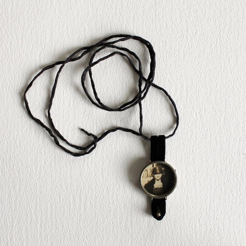 mixed media necklace by Kaija Rantakari, 2017 / www.paperiaarre.com