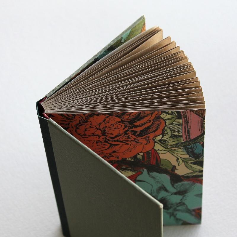 hidden flowers sewn boards notebook by Kaija Rantakari / www.paperiaarre.com