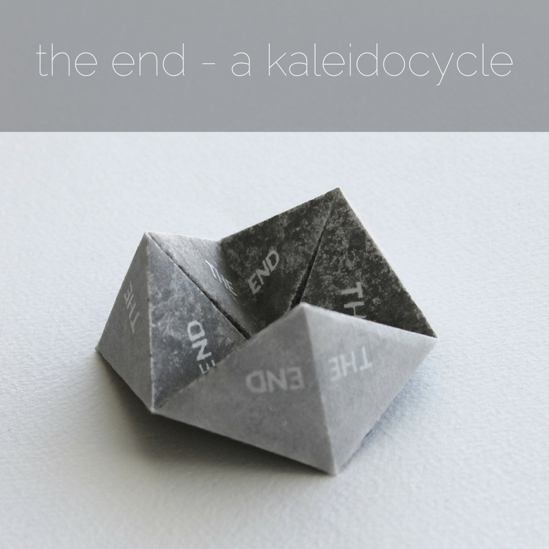 the end - a kaleidocycle artists' book by Kaija Rantakari, 2017 / www.paperiaarre.com