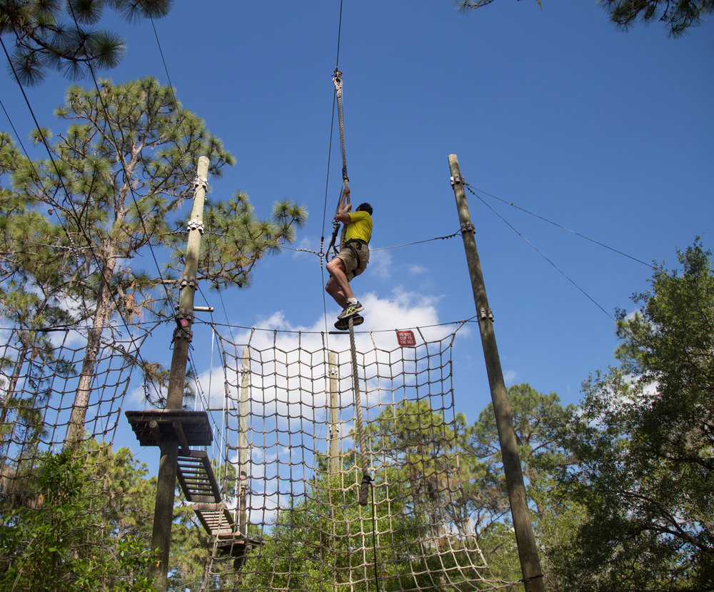 Veterans climb FREE on November 11!  Call us at 855-322-2130 to make your reservation - Discount valid for adventures on November 11, 2017 in Bradenton. ID must be presented at check in. Applicable to regularly priced tickets only, cannot be combined with any other discounts or promotions.