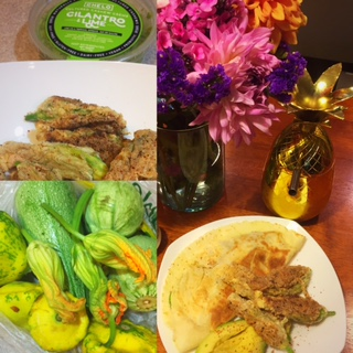SUMMER SQUASH BOUNTY MADE WITH CHELO CILANTRO & LIME CASHEW CREME