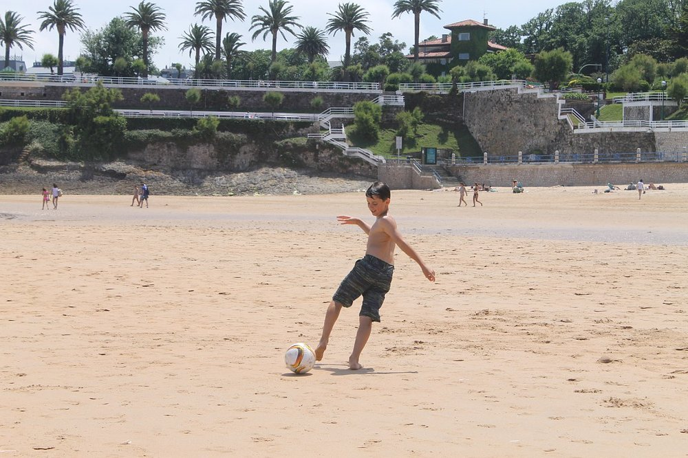 Playing football anywhere!