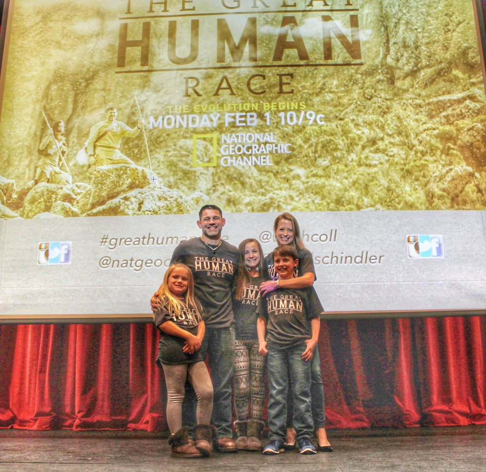 It took all 5 of us to survive the year filming The Great Human Race