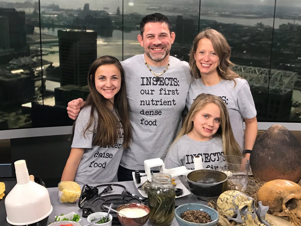 Cooking Cricket Tacos for WBAL News in Baltimore