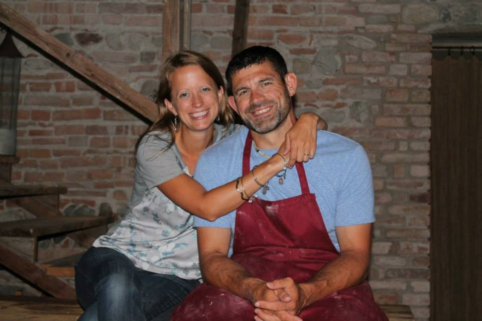 Pure happiness after cooking a gourmet meal in Italy