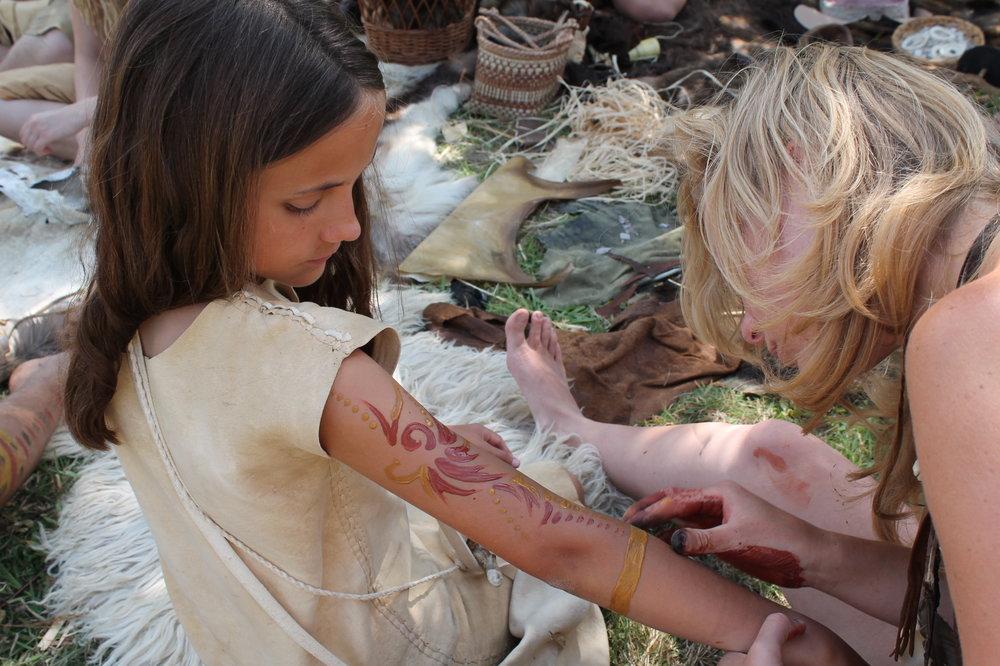 Getting a Stone Age tattoo