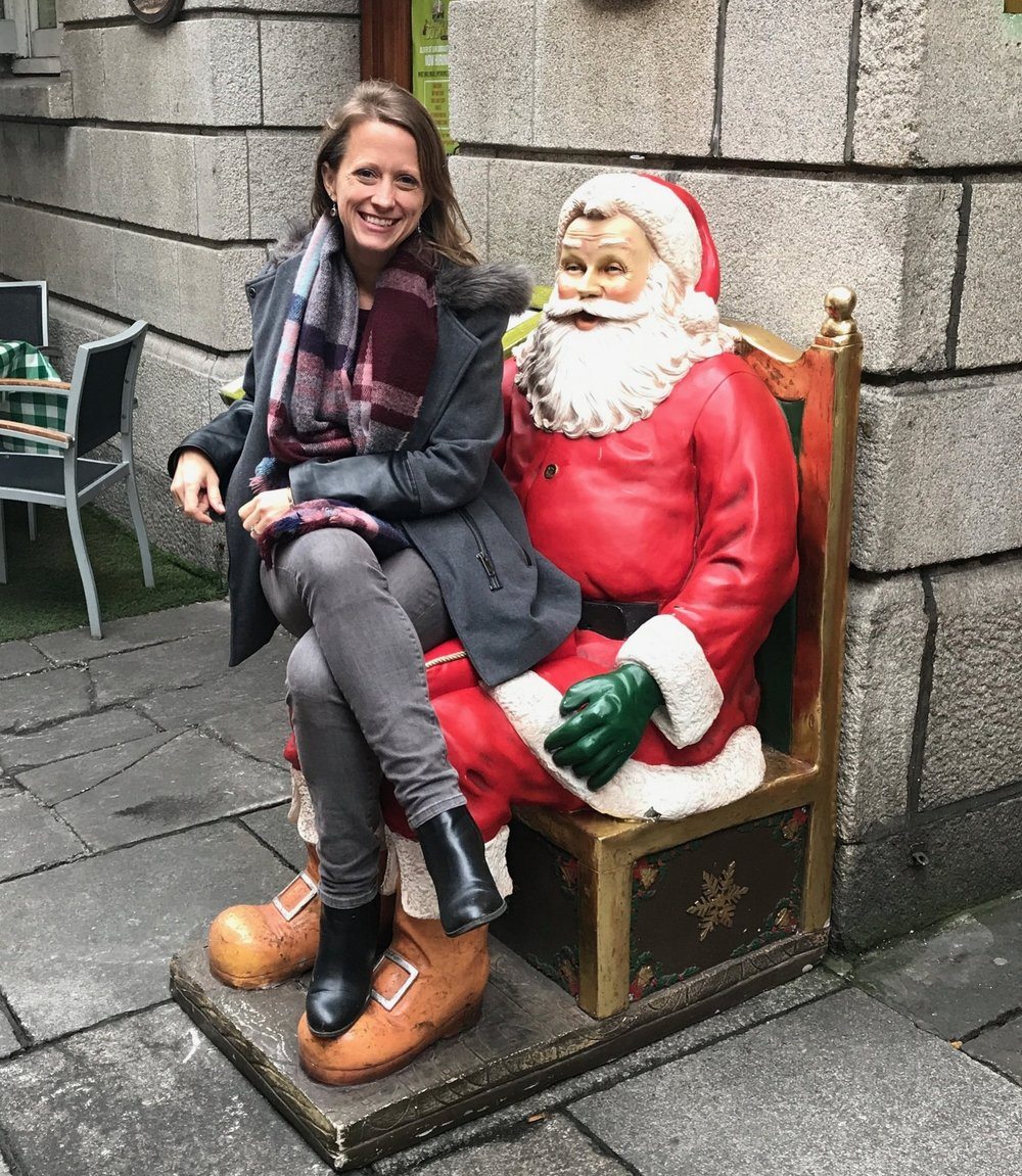 This is the only Santa lap you can sit on in Dublin . . .