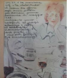 Zia Oddina pensa al menu da servire ai suoi amici artisti Maggio 1950