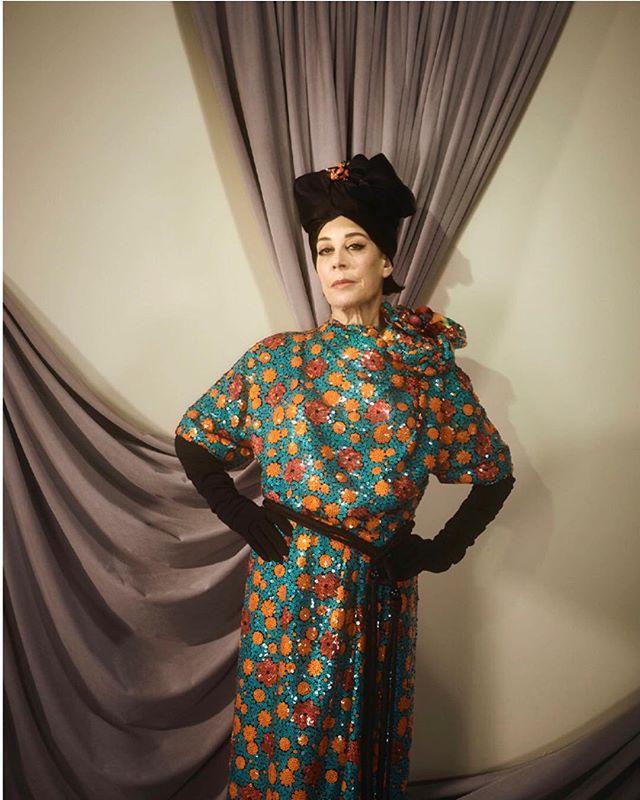 Legend Peggy Siegal 🌹#peggysiegal wearing @marcjacobs for @anothermagazine by @caspersejersenstudio @susiesobol_makeup @blakeerik @itsmeiansaltersworld and me