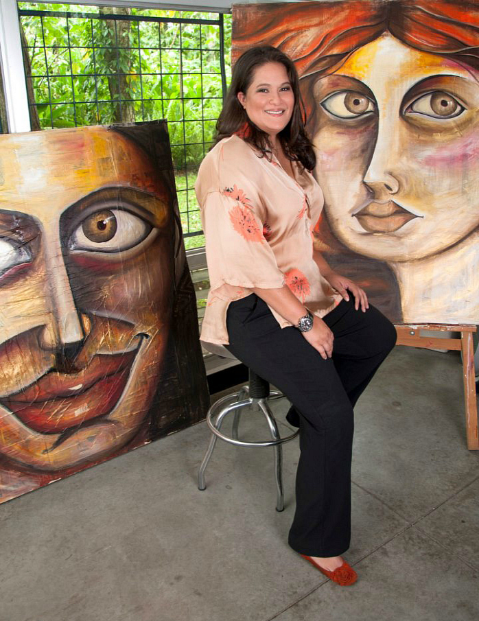 Leticia in her studio