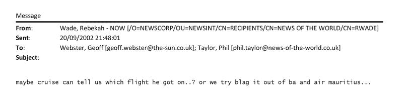 Smoking gun? The Editor's email