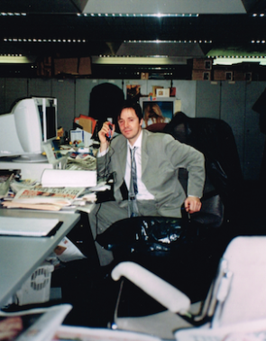 At work: former NotW Deputy Features Editor Paul McMullan